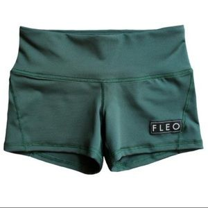 Fleo Forest Green Contour Crossfit Shorts